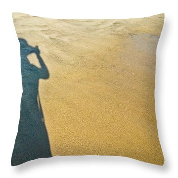 Shadow And Sand Raw Throw Pillow