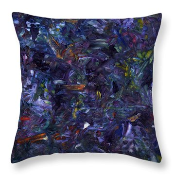 Throw Pillow featuring the painting Shadow Blue by James W Johnson