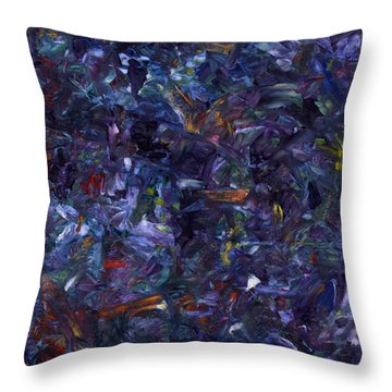 Throw Pillow featuring the painting Shadow Blue Square by James W Johnson