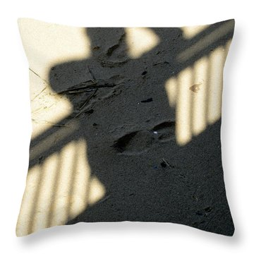 Shadow In The Sand Throw Pillow
