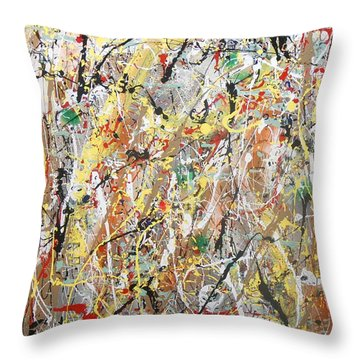 Pollock Throw Pillow