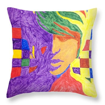 Throw Pillow featuring the painting Prince Gemini   by Stormm Bradshaw