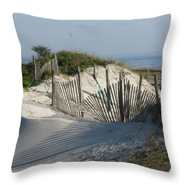 Shadow Fence Throw Pillow by Ellen Meakin