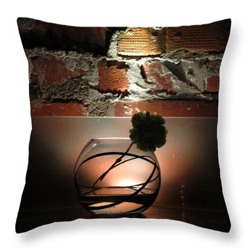 Shadow Flower Throw Pillow
