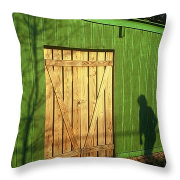 Shadow Man Throw Pillow by Rodney Lee Williams