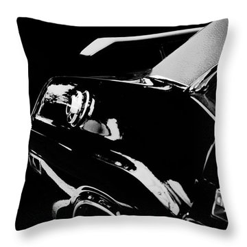 Old Car Throw Pillow featuring the photograph Shadow Of American Muscle by Aaron Berg