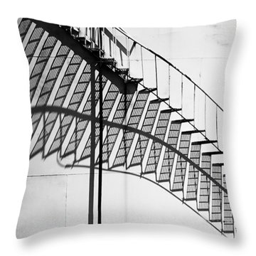 Shadow Of The Climb  Throw Pillow by Jack Zulli