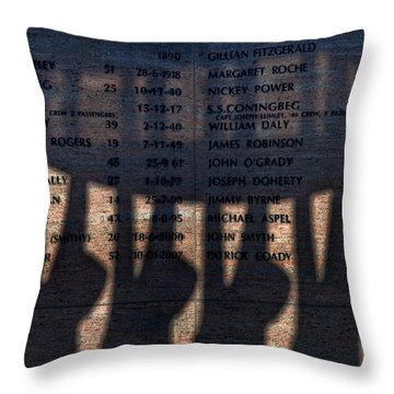Shadow Of The Fishermens Memorial Throw Pillow