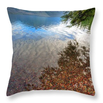 Throw Pillow featuring the photograph Shadow Pebbles by David Andersen