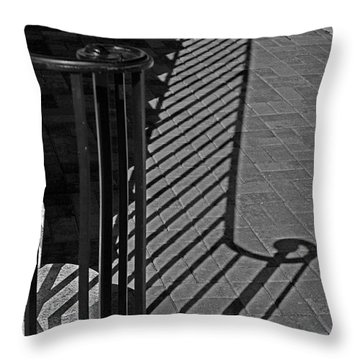 Shadow Railing Throw Pillow by Andy Lawless