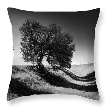 Shadow Time Throw Pillow