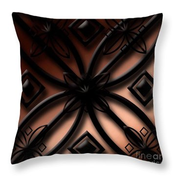Throw Pillow featuring the digital art Shadow Trhow  by Gayle Price Thomas