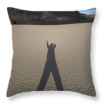 Throw Pillow featuring the photograph Shadowman by Joe Schofield