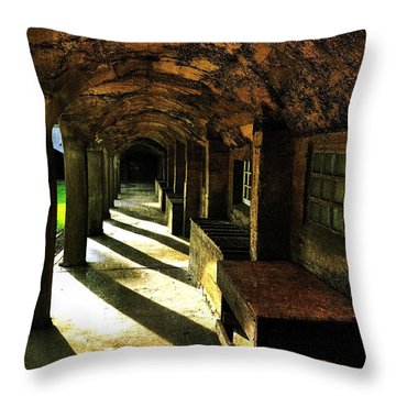 Shadows And Arches I Throw Pillow