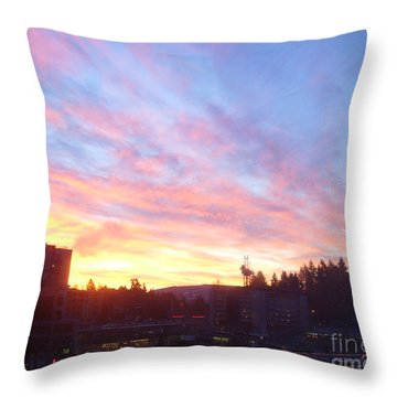 Shadows And Color In The Pacific Northwest Throw Pillow by Alexander Van Berg