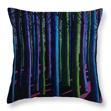 Shadows And Moonlight Throw Pillow