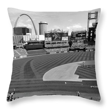 Shadows At Busch B-w Throw Pillow