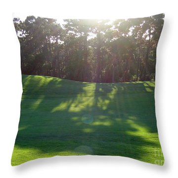 Shadows At Poppy Hills Throw Pillow