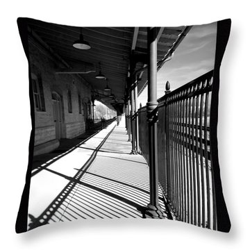 Shadows At The Station Throw Pillow