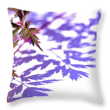 Shadows Throw Pillow by Eiwy Ahlund