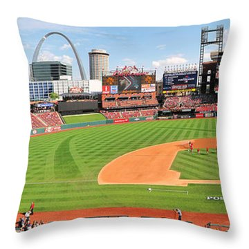 Shadows Fall On Post-season Busch Throw Pillow