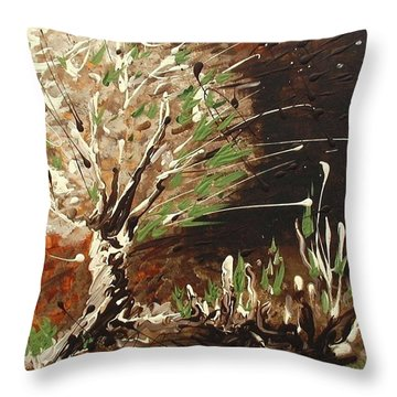 Throw Pillow featuring the painting Shadows by Holly Carmichael