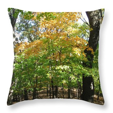 Shadows In The Forest Throw Pillow