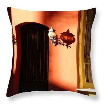 Shadows In The French Quarter Throw Pillow