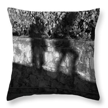 Shadows In The Vineyard Throw Pillow by Colleen Williams