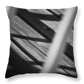 Shadows Of Carpentry Throw Pillow by Christi Kraft