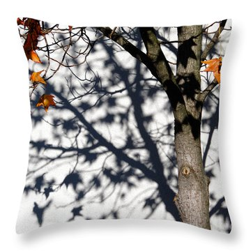 Shadows Of Fall Throw Pillow by CML Brown