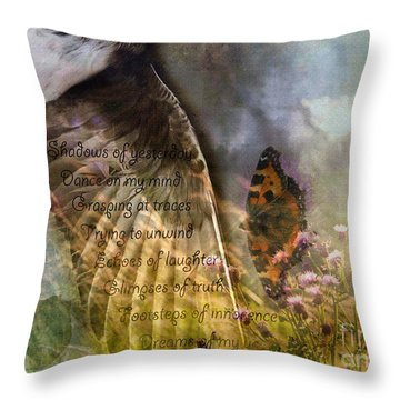 Shadows Of Yesterday Throw Pillow