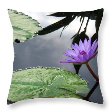 Shadows On A Lily Pond Throw Pillow