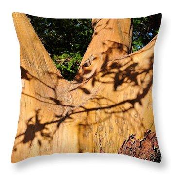 Shadows On Arbutus Throw Pillow