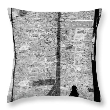 Shadows On St-laurent Throw Pillow by Valerie Rosen
