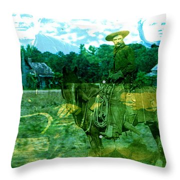 Shadows On The Land Throw Pillow