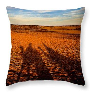 Shadows On The Sahara Throw Pillow by Mark E Tisdale