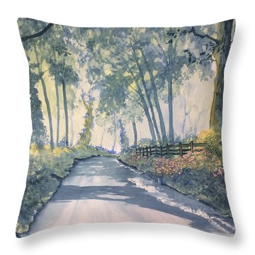 Shadows On The Setterington Road Throw Pillow
