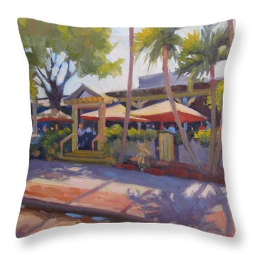 Shadows On Tommy Bahamas Throw Pillow by Dianne Panarelli Miller