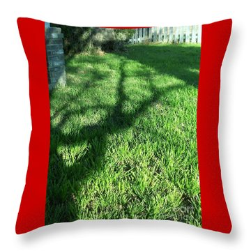 Shadows Reaching Throw Pillow