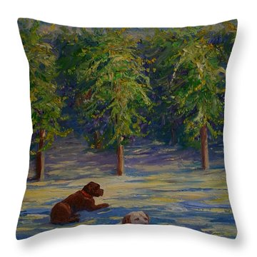 Shady Friends Throw Pillow