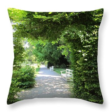 Throw Pillow featuring the photograph Shady Retreat by Pema Hou
