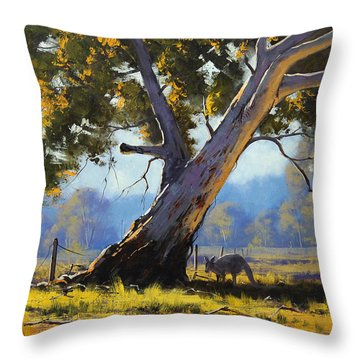 Gum Trees Throw Pillows