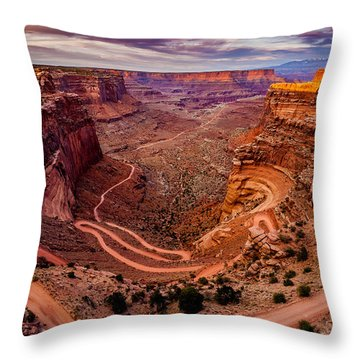 Shafer Trail Horizontal Throw Pillow