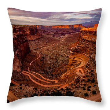 Shafer Trail Vertical Throw Pillow