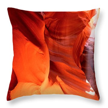 Shaft Of Sunlight In A Canyon, Antelope Throw Pillow by Panoramic Images