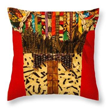 Shaka Zulu Throw Pillow