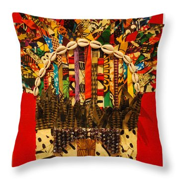 Shaka Zulu Throw Pillow