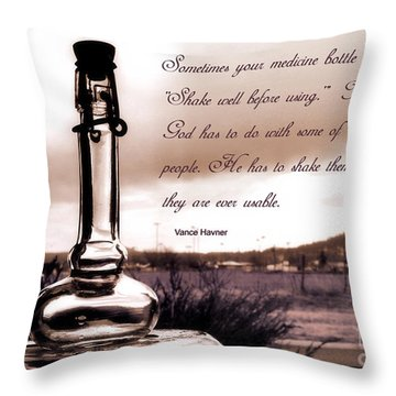 Shake Well Before Using Throw Pillow