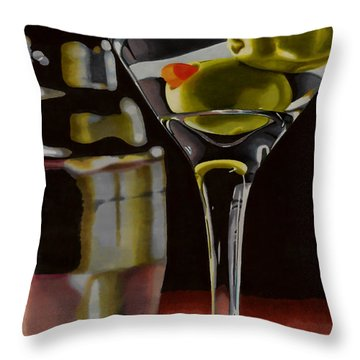 Shaken Not Stirred Throw Pillow